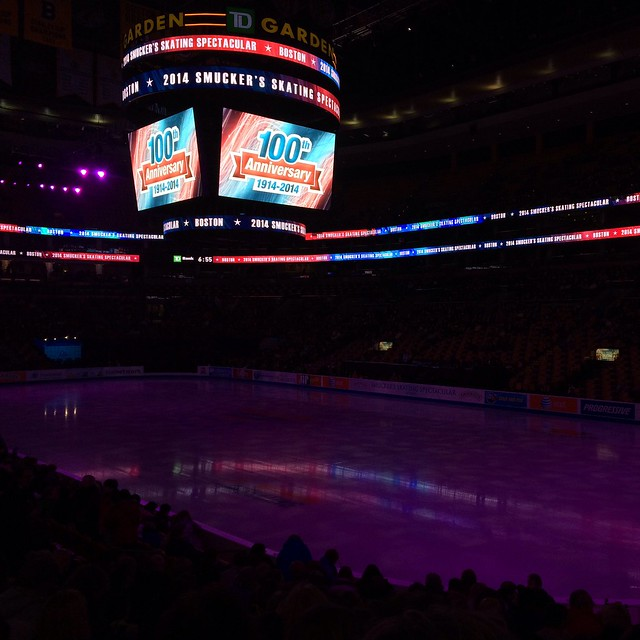 Smucker's Skating Spectacular. This is happening. #Boston2014 #RoadtoSochi #imightcry