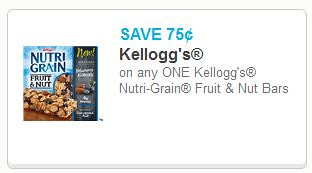 Kellogg's Nutri Grain Fruit & Nut Bars