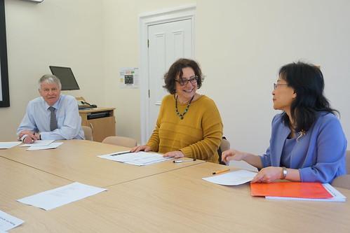 general manager Neil, Director Marina and Co-director Liu Jianmei