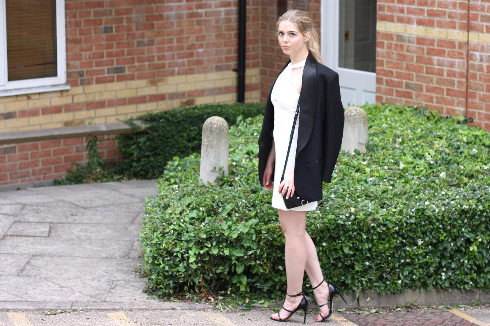 Topshop black strappy heels