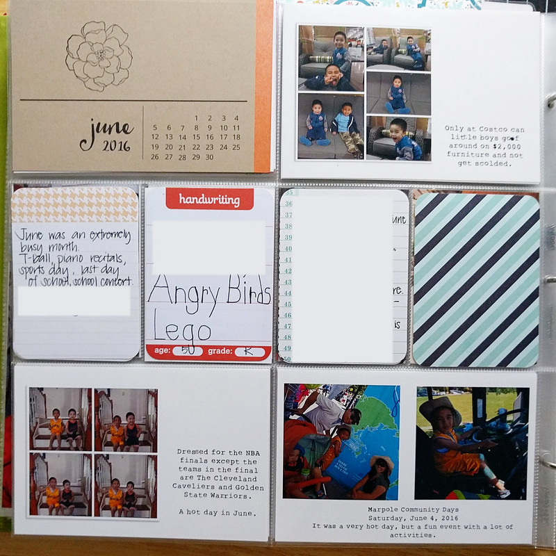 June Project Life 2016