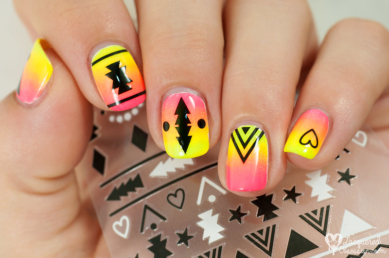 Neon tribal gradient