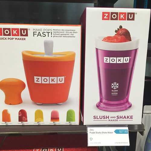 Zoku! Perfect for summer. We have the slush maker. Just add juice and it turns into slush!