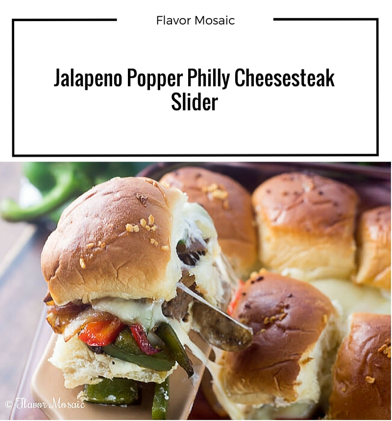Jalapeno Popper Philly Cheesesteak Slider