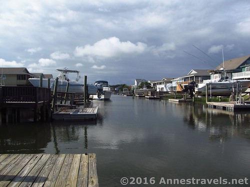 View down the canal from the boat dock at Blue Heaven 108 Raleigh Street, Holden Beach, North Carolina