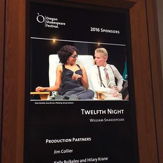 Twelfth Night at Oregon Shakespeare Festival Ashland 2 July 2016
