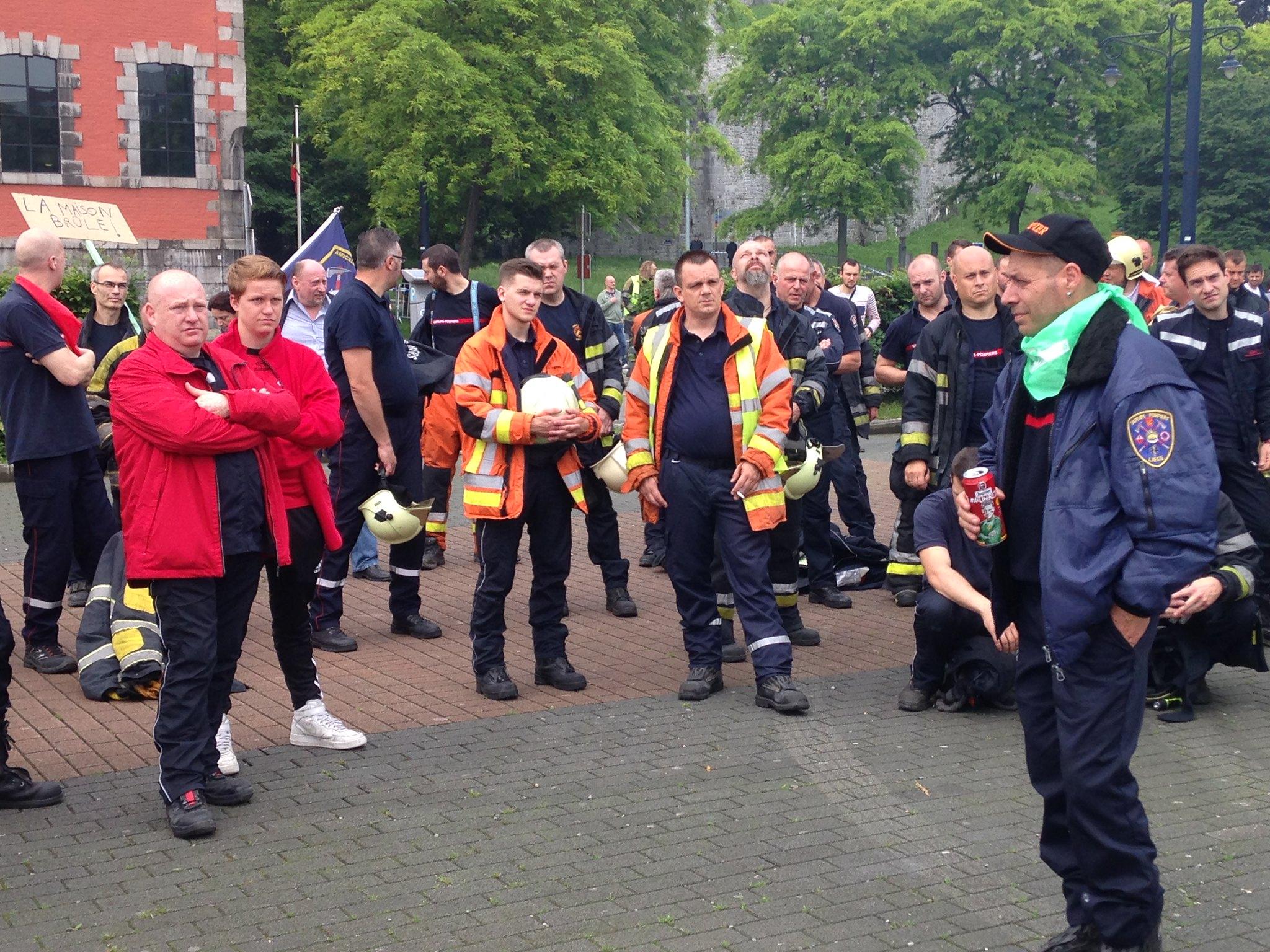 Action pompiers à Namur 08062016