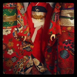Dolls in red kimono, for #365days project, 168/365