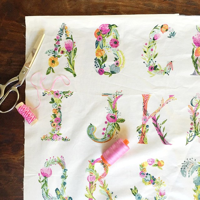 Joie de Vivre Joyeux Alphabet Panel by Bari J.