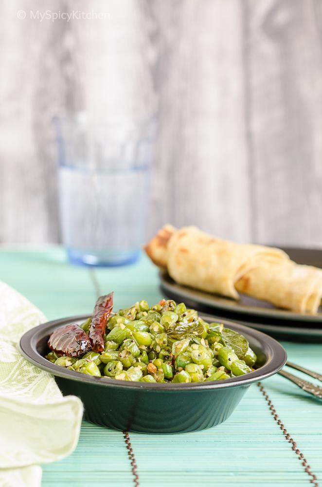 Green Beans Saute, Poriyal, Green Beans Poriyal, Tamil Food, Tamil Cuisine, Indian Food,  South Indian Food, Beans, CCChallenge, Cooking from Cookbook,  Dakshin Chandra Padmanabhan