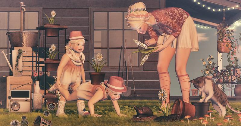 Amelie et les petites: Gardening