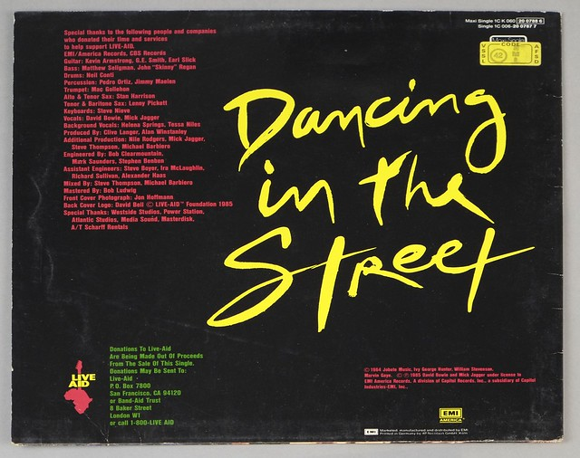 "DAVID BOWIE & MICK JAGGER - DANCING IN THE STREET 12"" 45RPM Maxi-Single VINYL"