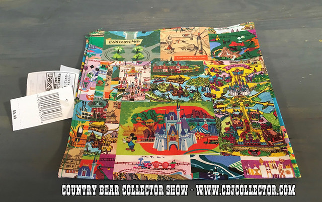 2014 Walt Disney World Magic Kingdom Map Cloth Napkin - Country Bear Jamboree Collector Show #055