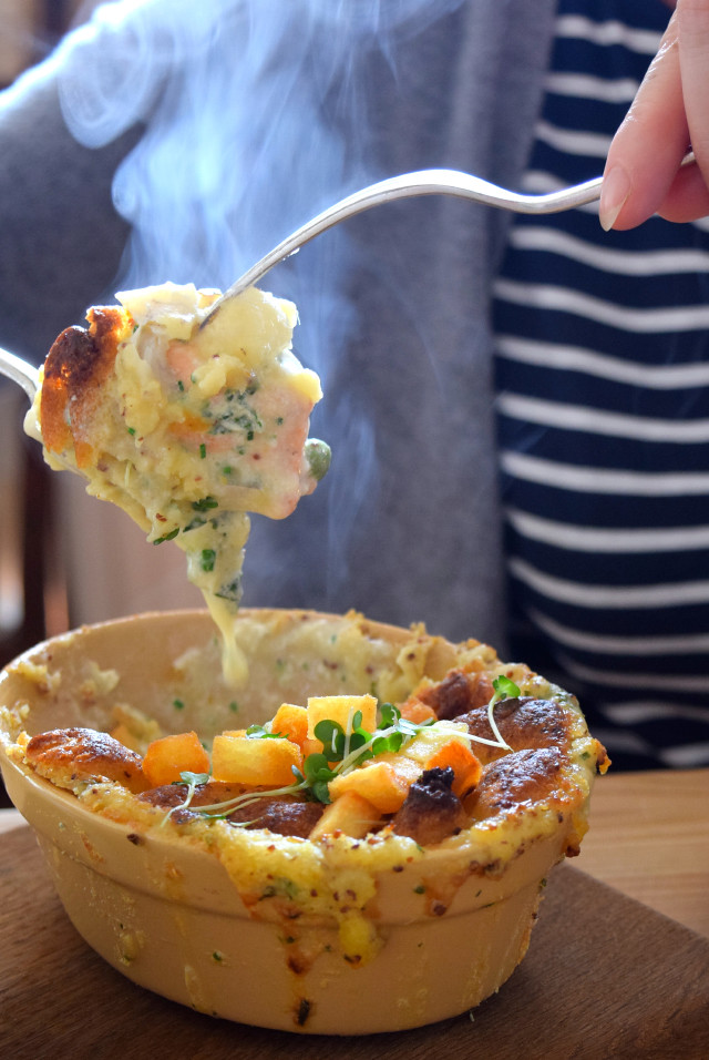 Fish Pie at The Duck Inn, Pett Bottom | www.rachelphipps.com @rachelphipps