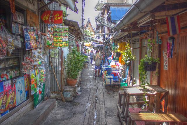 バンコクの路地HDR