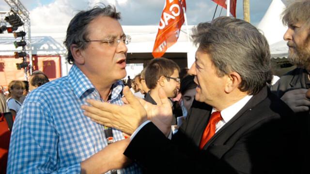 Jacques Nikonoff et Jean-Luc Mélenchon