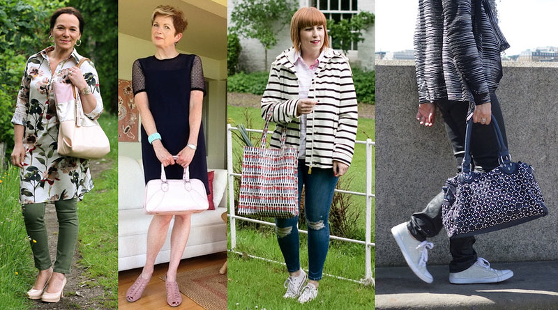 Fashion bloggers with totes and shoppers #iwillwearwhatilike
