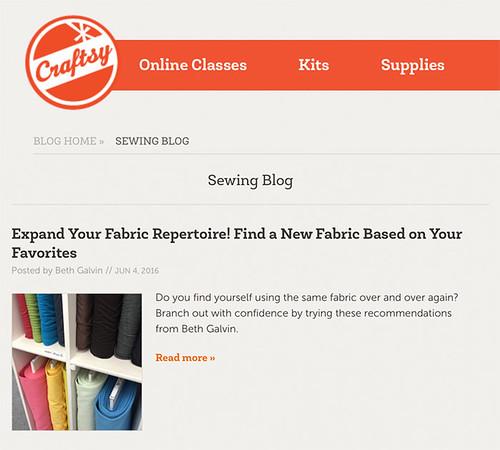 Craftsy fabric choice post
