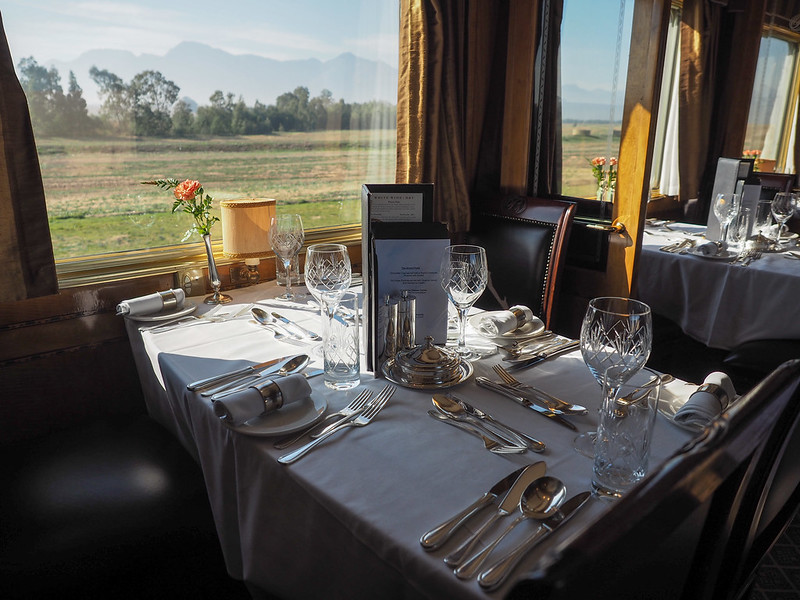 Blue Train dining car