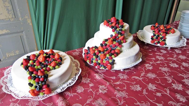 Hochzeitstorte Beeren