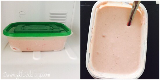 Strawberry Icecream Recipe for Toddlers and Kids - step 6