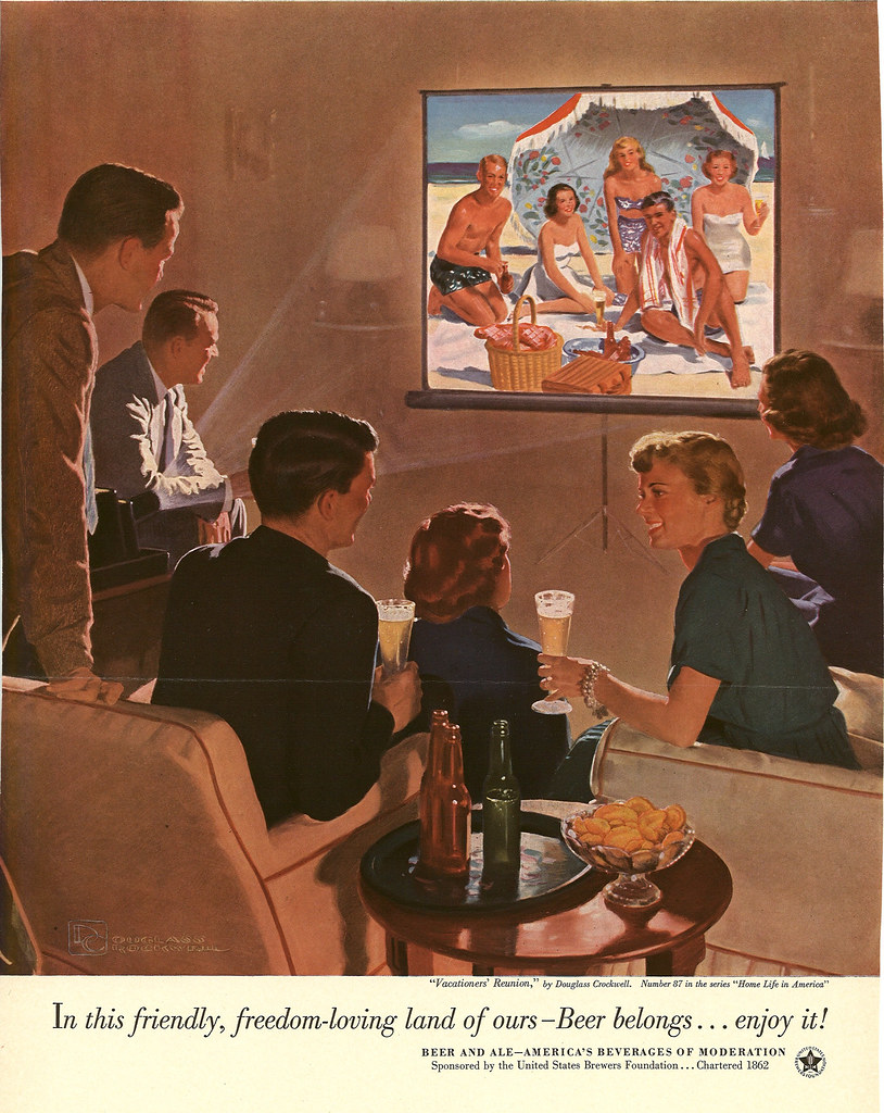 087. Vacationers' Reunion by Douglass Crockwell, 1953