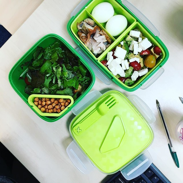 Thank you @ikeauk for making the most perfect lunch boxes for #aldesko days! #joyofstorage #workinglunch #salad