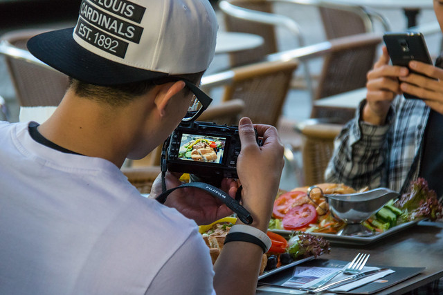 Photographing the food