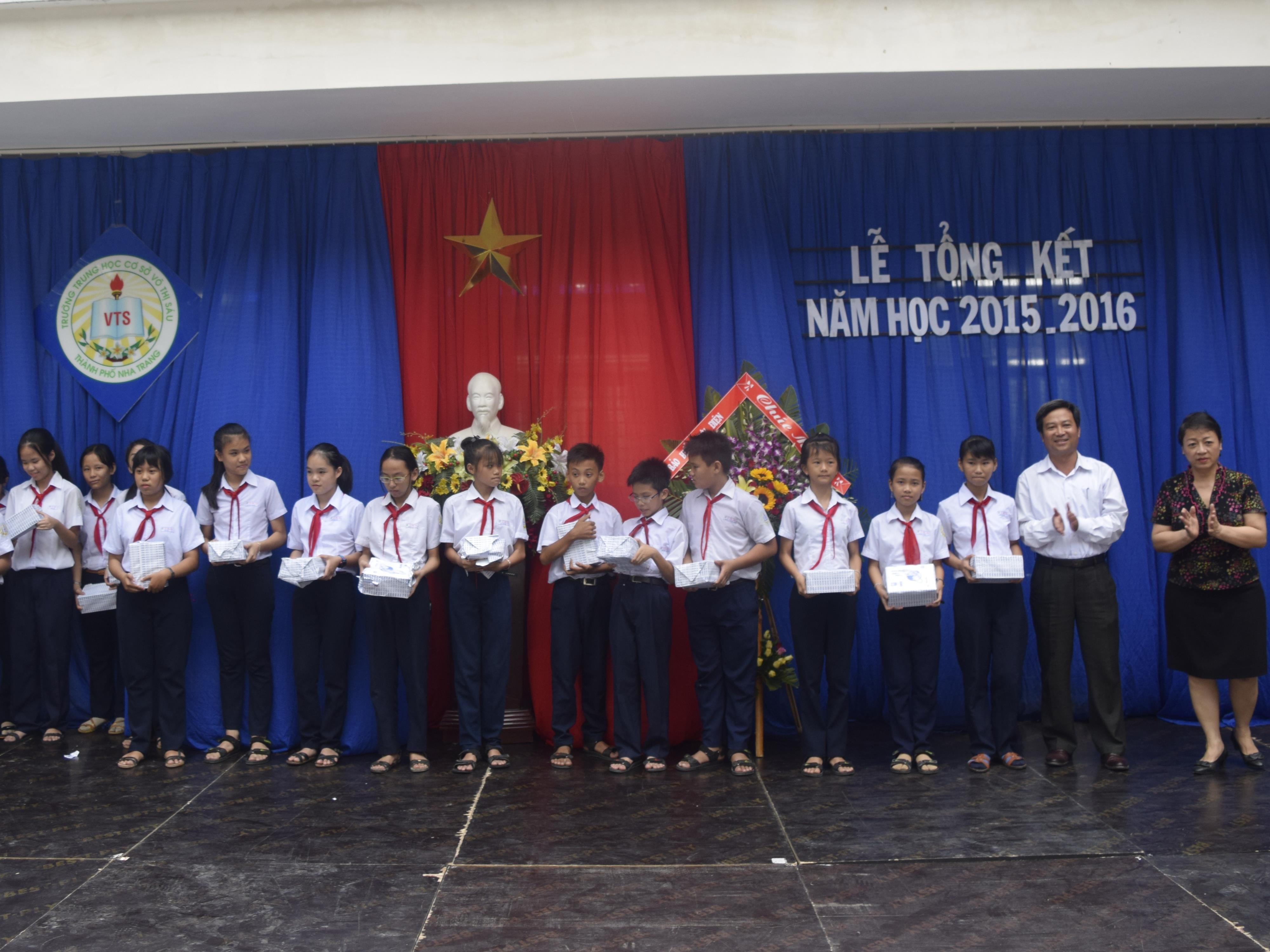 Lễ Tổng kết năm học 2015-2016 của Trường THCS Võ Thị Sáu