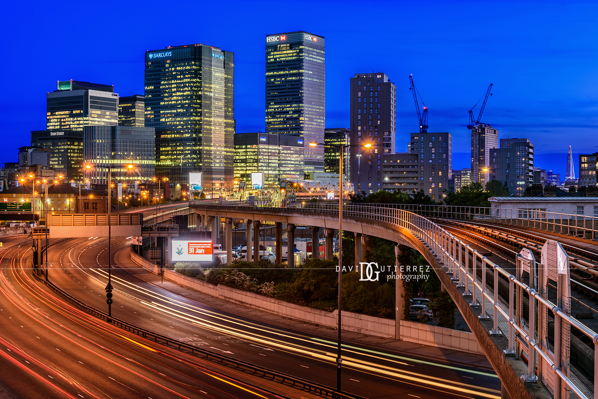 """Blue Interval"" Docklands, London, UK by David Gutierrez Photography, London Photographer"