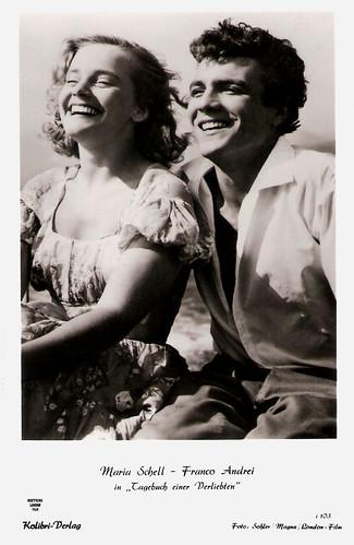 Maria Schell and Franco Andrei in Tagebuch einer Verliebten (1953)