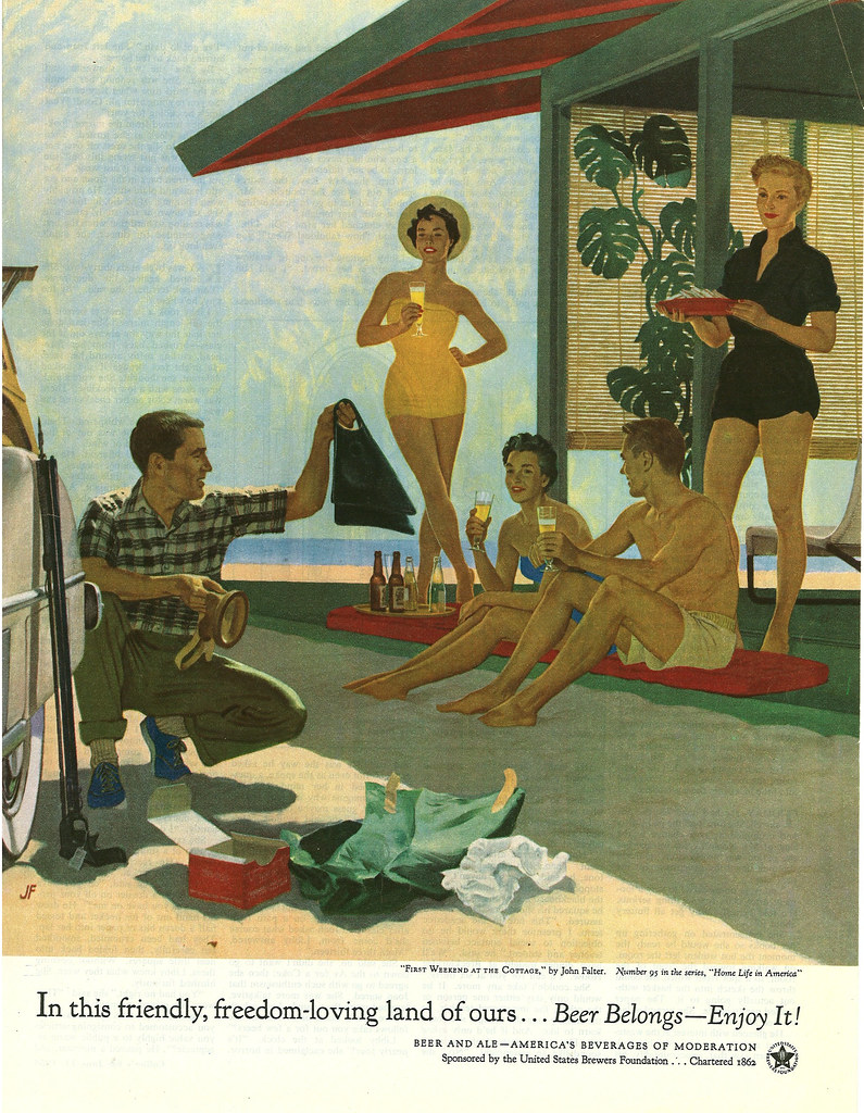095. First Weekend At the Cottage by John Falter, 1954