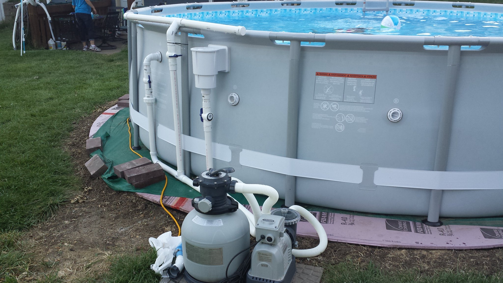 Side Wall Skimmer With Dual Inlet Liner