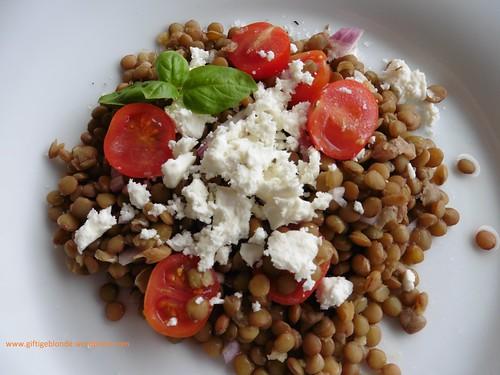 Linsensalat mit Feta und Paradeisern (2)