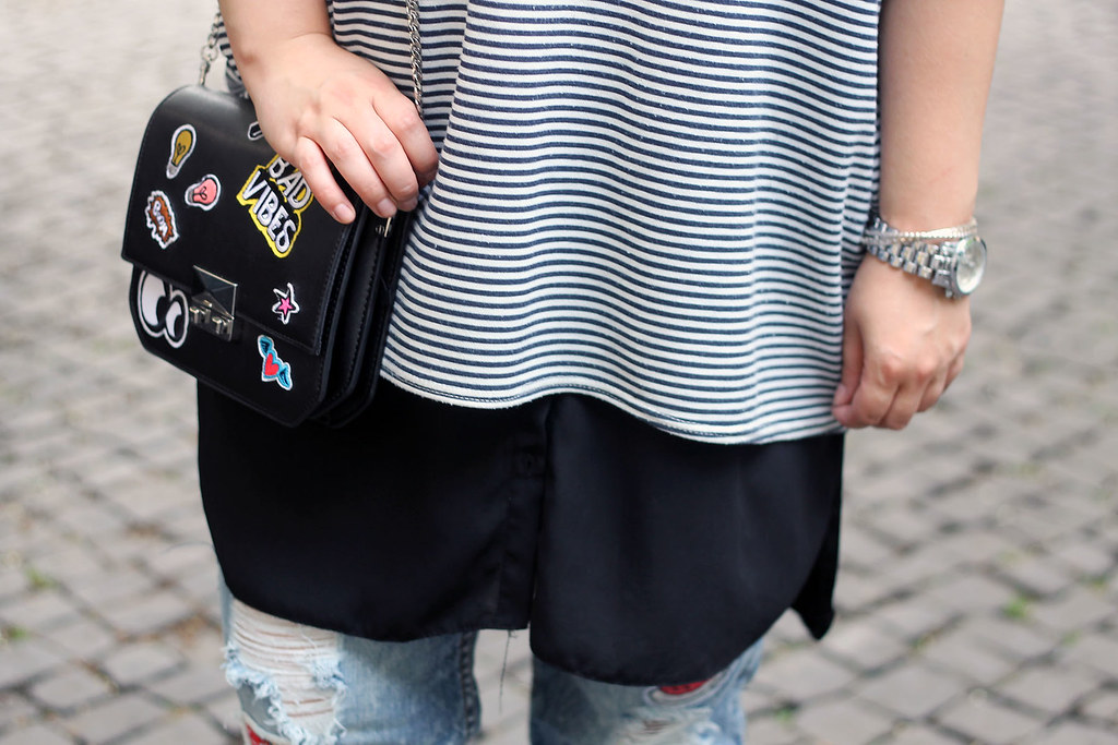 outfit-look-style-blogger-streifen-shirt-asos-patches-tasche