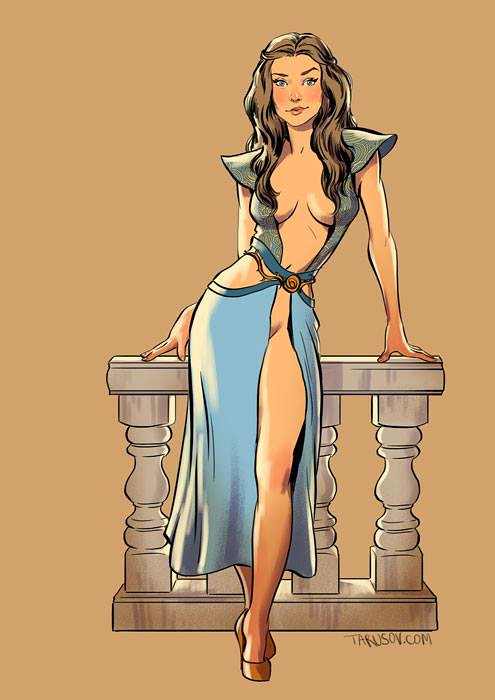 Risqué Game of Thrones pin-up girls by Andrew Tarusov - Margaery Tyrell