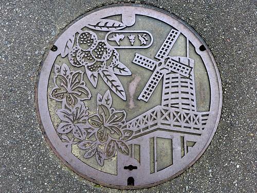 Yamaga Oita, manhole cover 2 (大分県山香町のマンホール2)