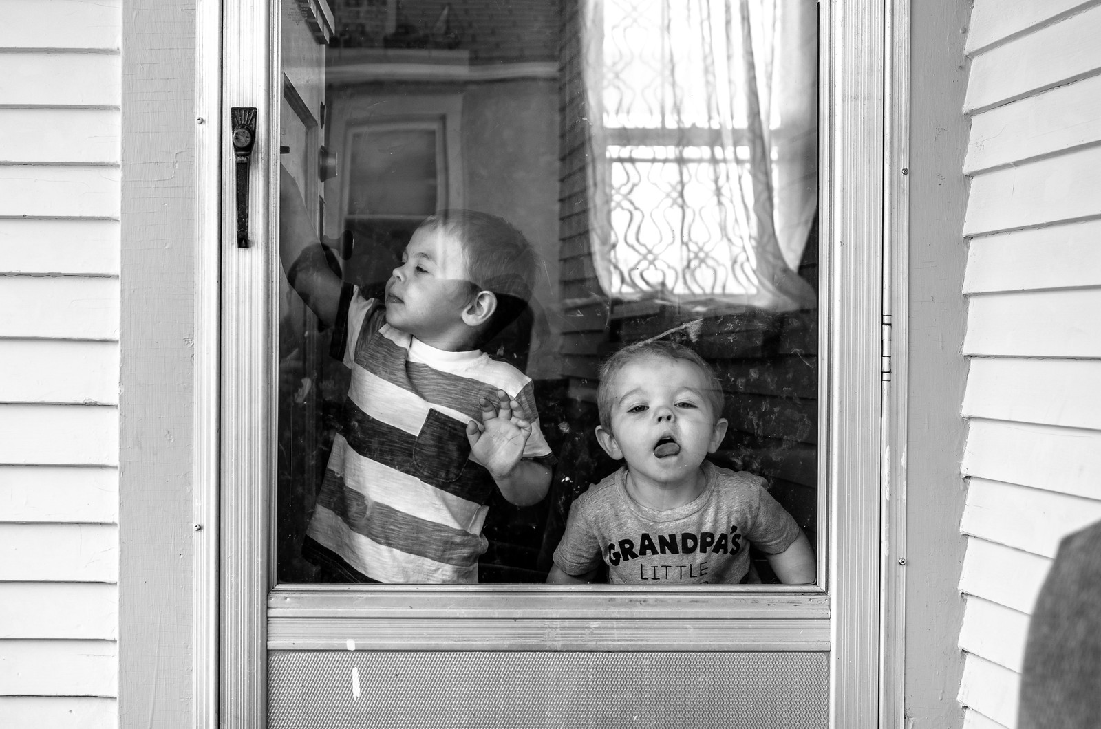 The boys at the door