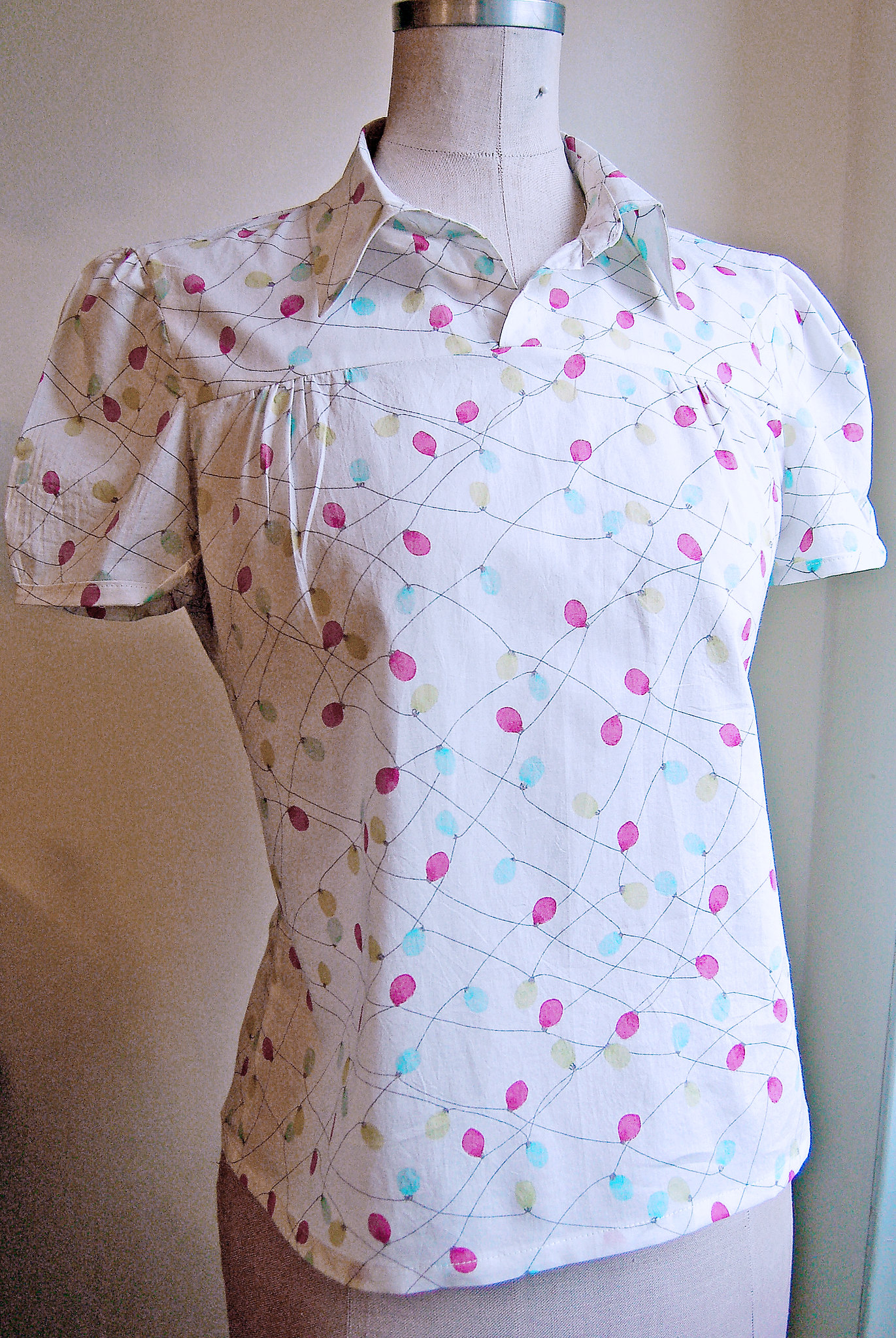 Blouse made of Liberty print