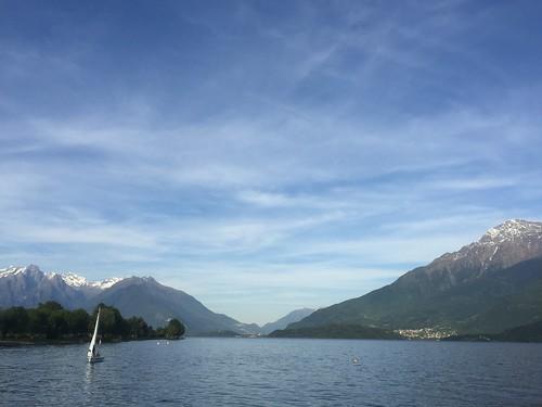 Lake Como near Dongo and Gravedona, Lombardy, Italy