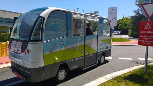 CityMobil2 en Donostia, un autobús autónomo, sin conductor
