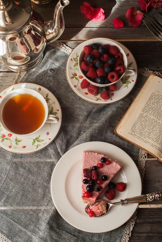 tarta mousse de fresa