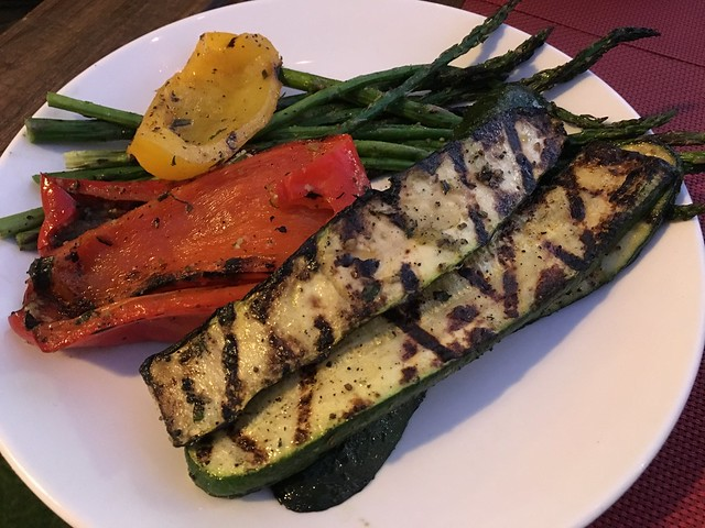 Grilled farmers market vegetables - Chicken Ranch