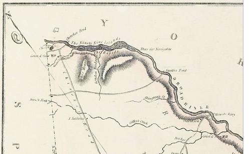 Mills Map Goat Island 1825