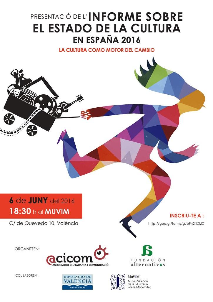 20160606 La cultura motor del cambio. Informe sobre el estado de la cultura en España