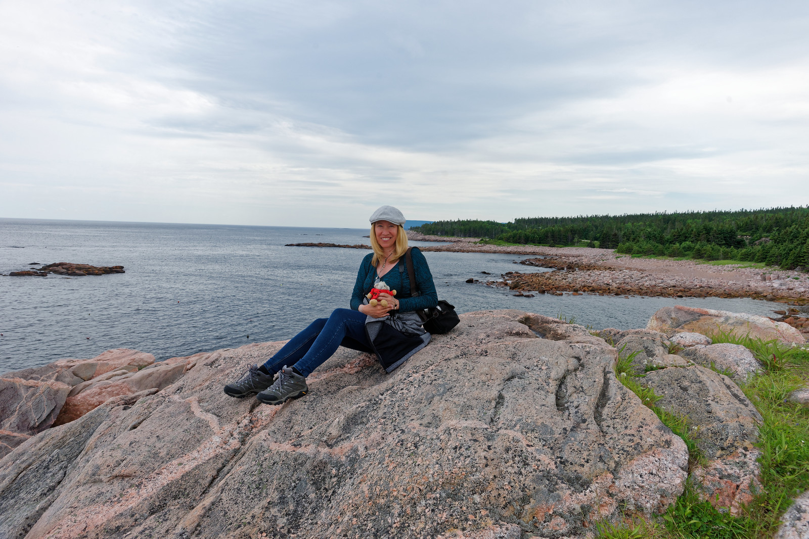 Cynthia On Cabot Trail