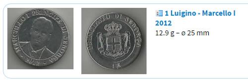 Seborga coin of Marcello I