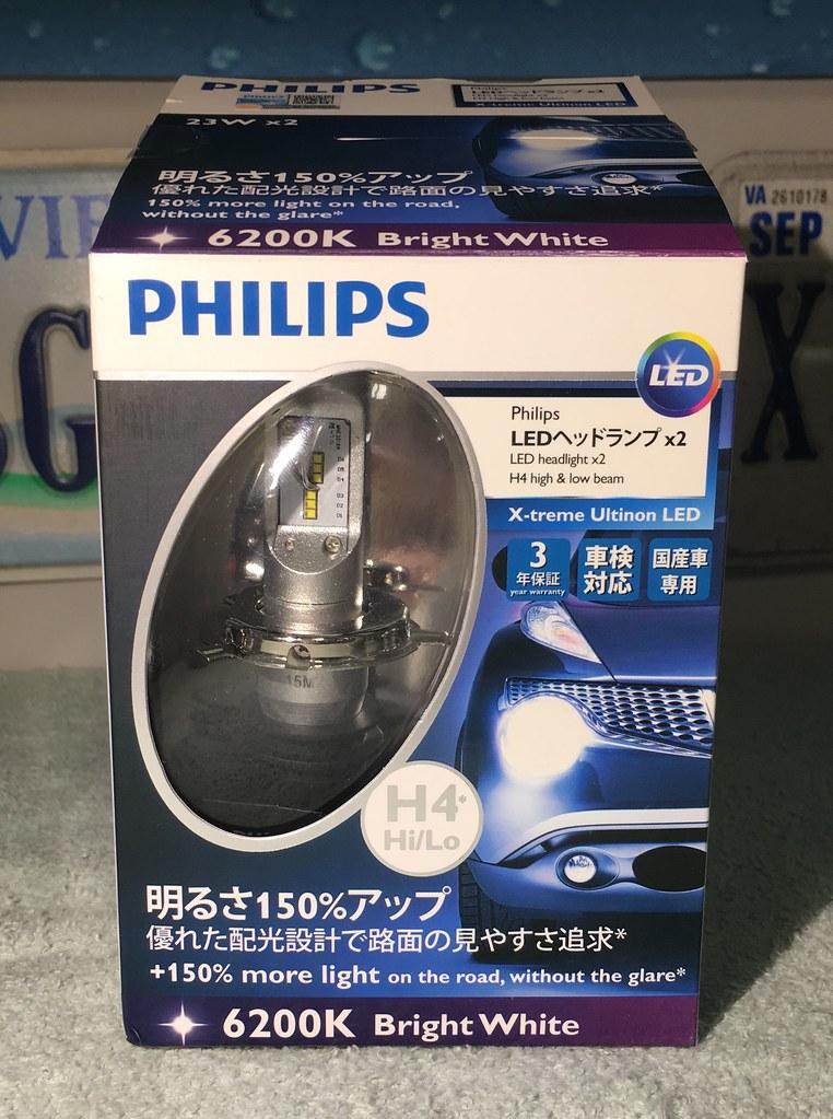 H4 Philips X-treme Ultinon LED Headlight Bulb Review