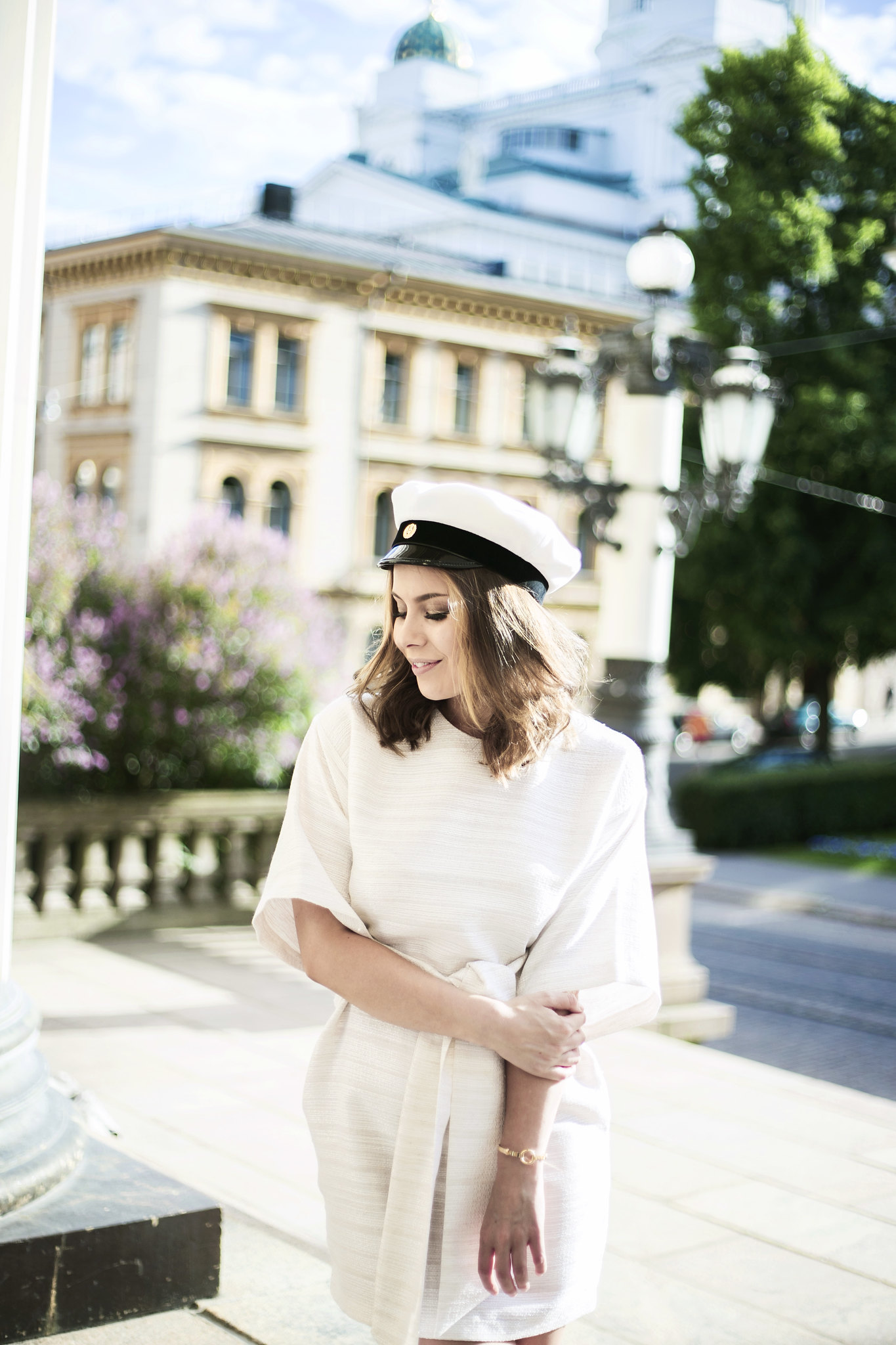 graduation-dress-asos-linen-white-hat-blogger