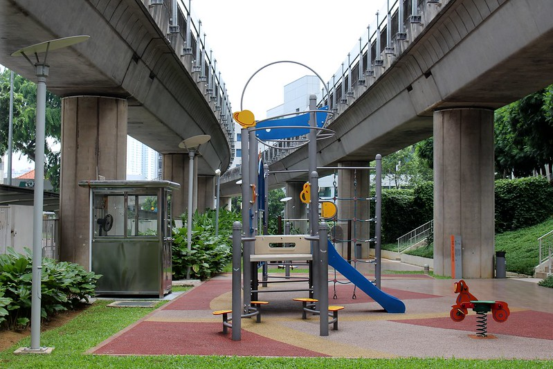 Playground under the tracks, near Redhill station, Singapore